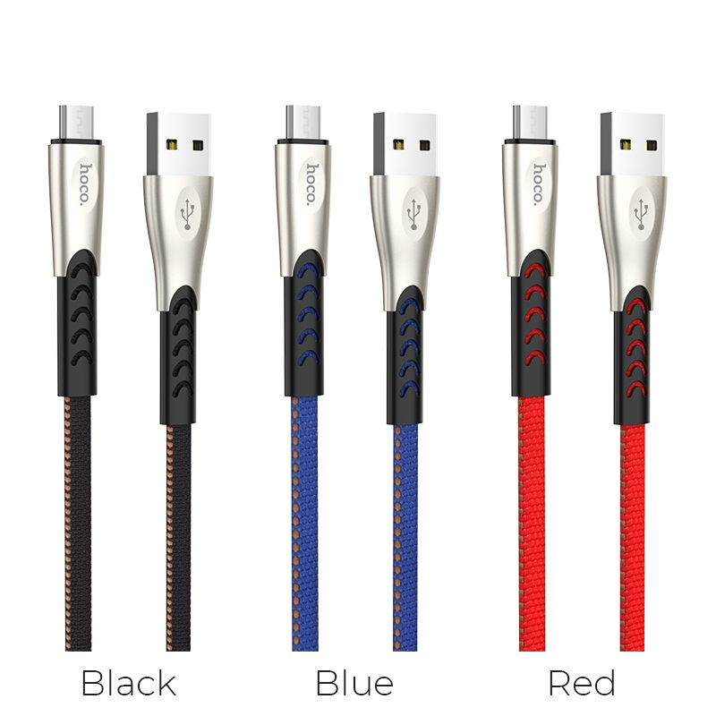 hoco u48 superior speed charging data cable for micro usb colors