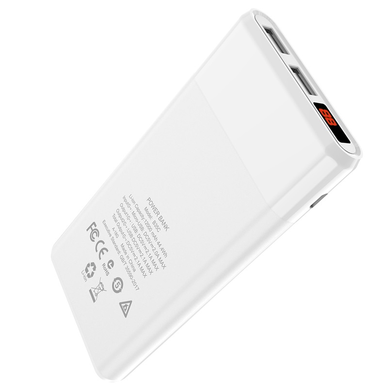 hoco b35c entourage mobile power bank 12000 mah display