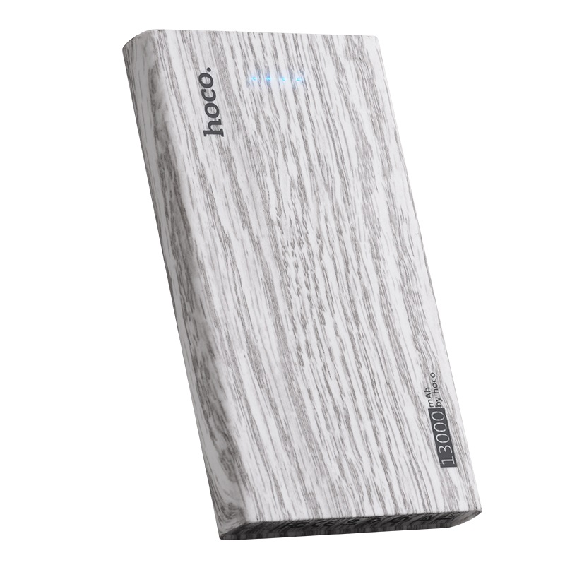 hoco b36 wooden mobile power bank 13000 mAh charger