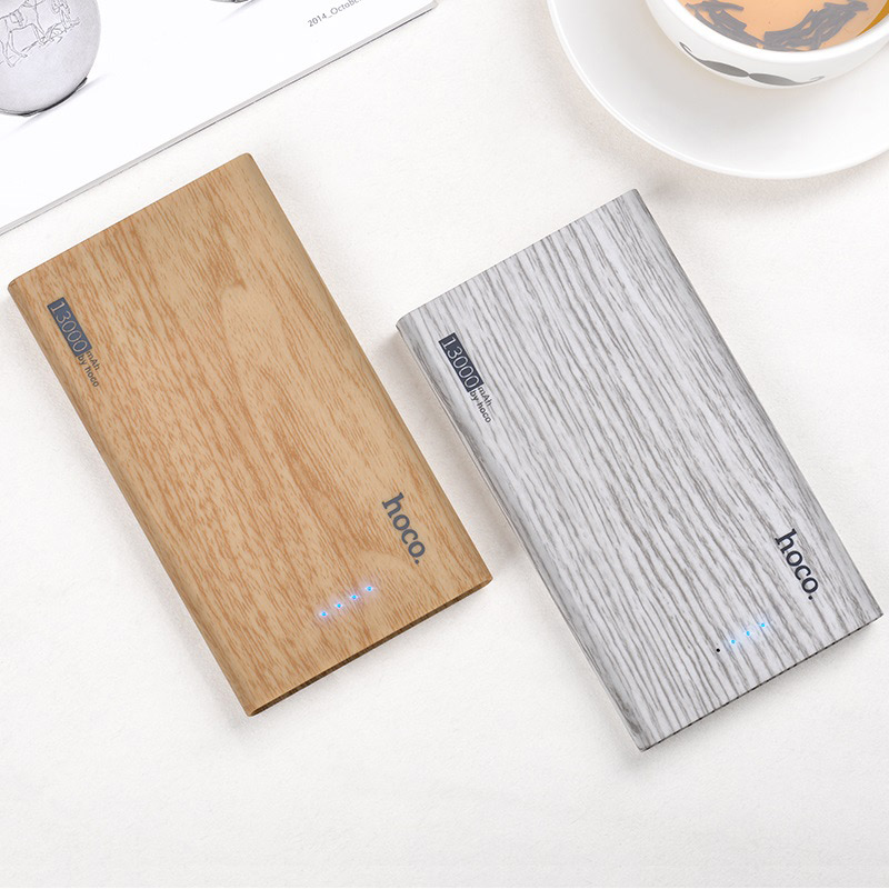hoco b36 wooden mobile power bank 13000 mAh overview