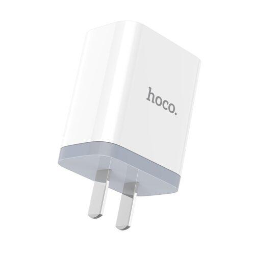 hoco c50 luster sharp зарядное устройство с двумя портами адаптер