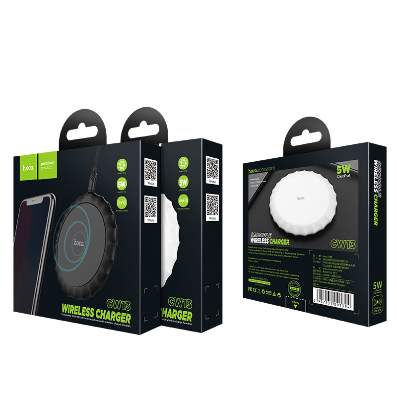 hoco cw13 sensible wireless charger package