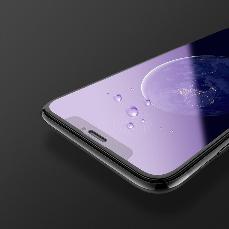 浩酷 新3d速贴护眼蓝光钢化膜 a5 iphone xr 指纹