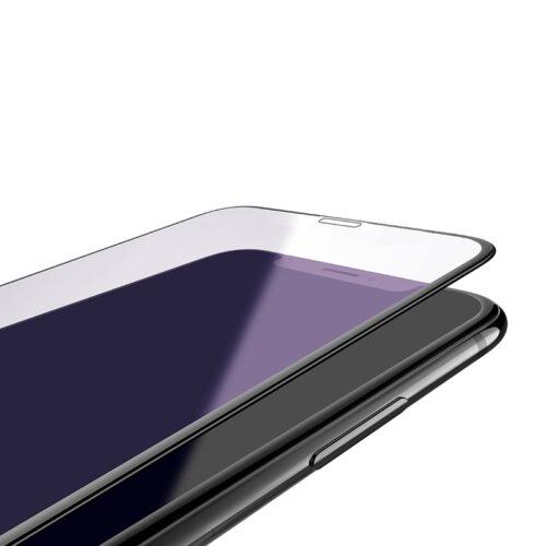 hoco new 3d quick adhesive anti blue ray закаленное стекло a5 для iphone xr рамки