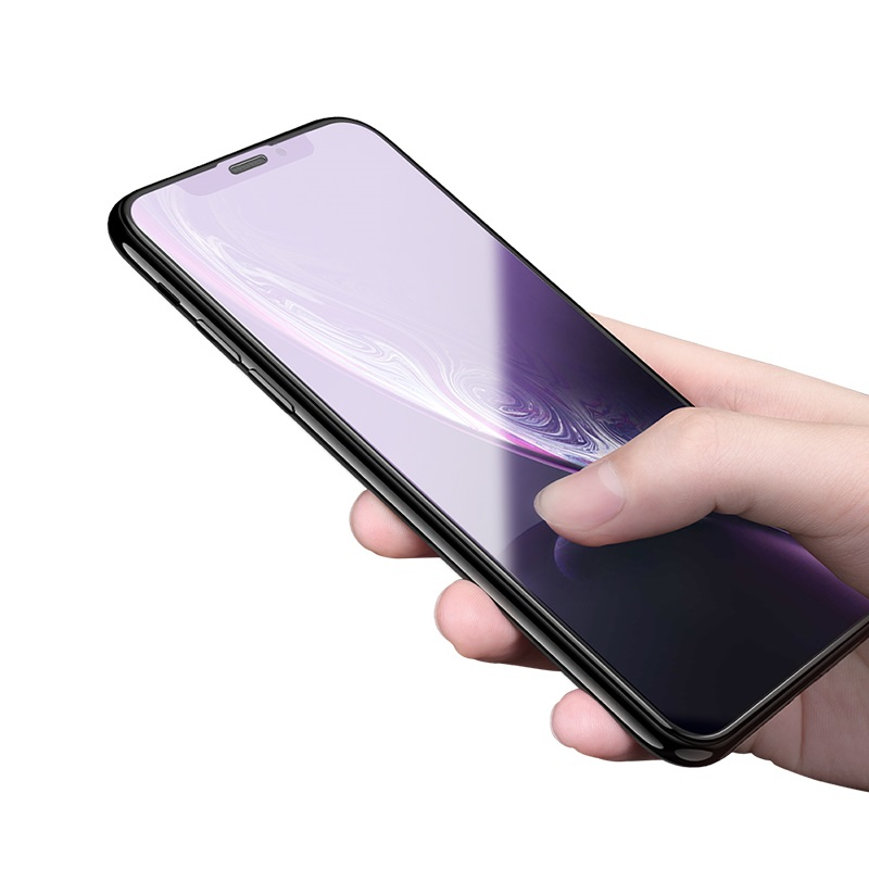hoco new 3d quick adhesive anti blue ray tempered glass a5 for iphone xr phone