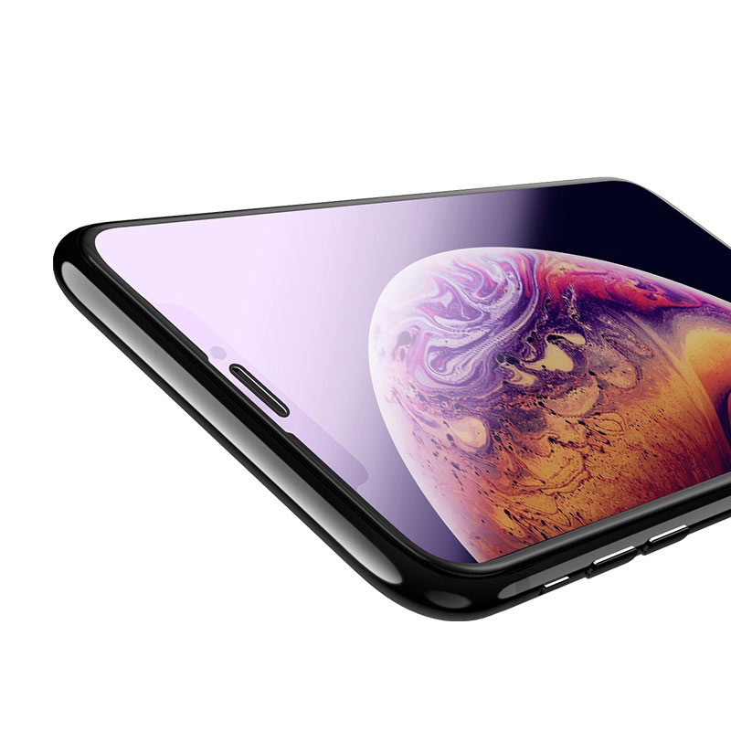 hoco new 3d quick adhesive anti blue ray закаленное стекло a5 для iphone xr тонкое