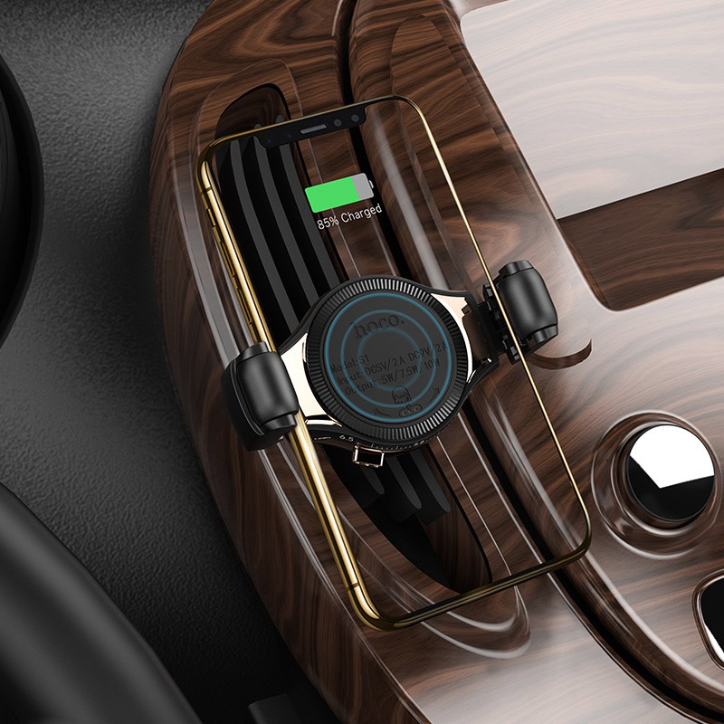 hoco s1 in car wireless charging phone holder bracket