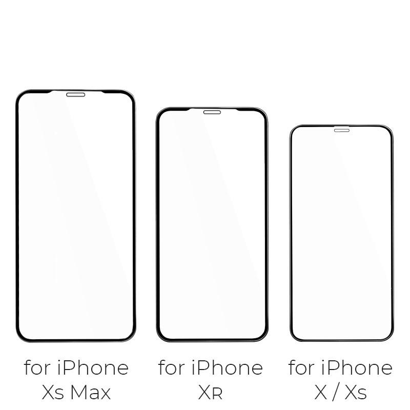 浩酷 防碎边全屏高清钢化膜 a1 iphone iphone xs xr xs max 尺寸