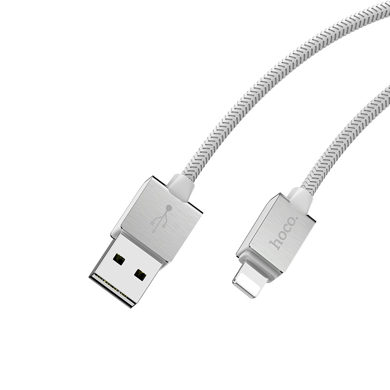 hoco u49 refined steel charging data cable for lightning joints