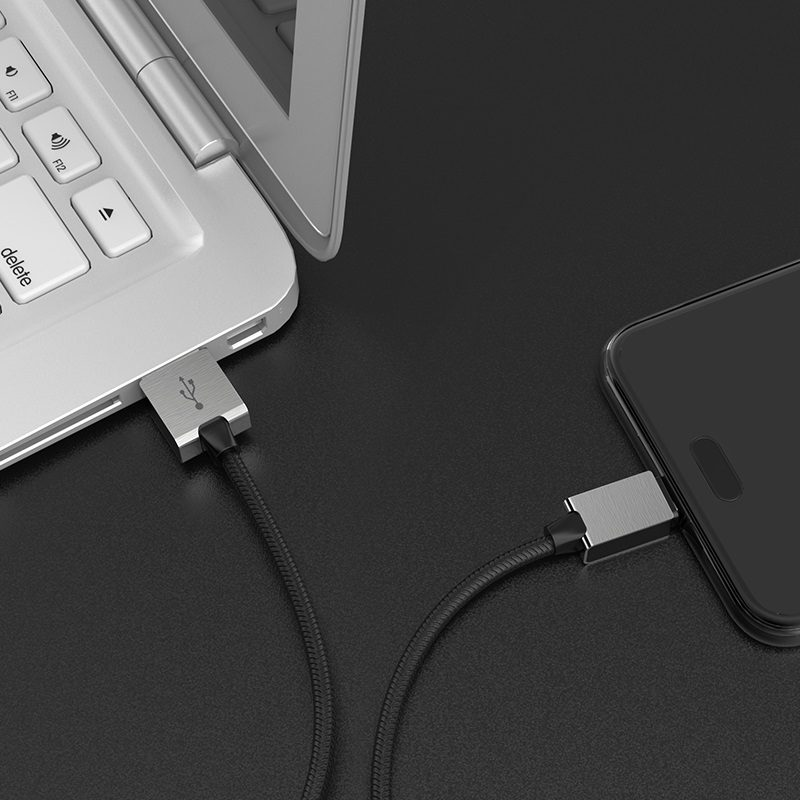 hoco u49 refined steel charging data cable for micro usb charger