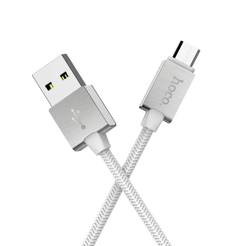 hoco u49 refined steel charging data cable for micro usb durable