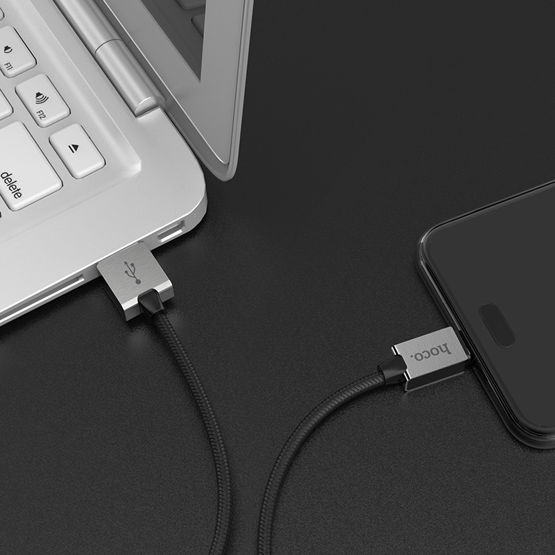 hoco u49 refined steel charging data cable for type c charger