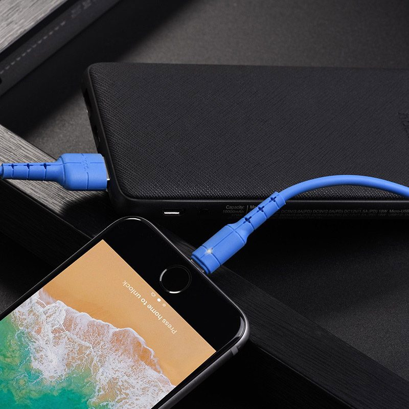 hoco x30 star charging data cable for lightning overview
