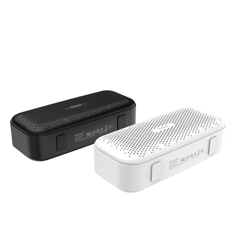 hoco bs23 elegant rhyme wireless speaker black white