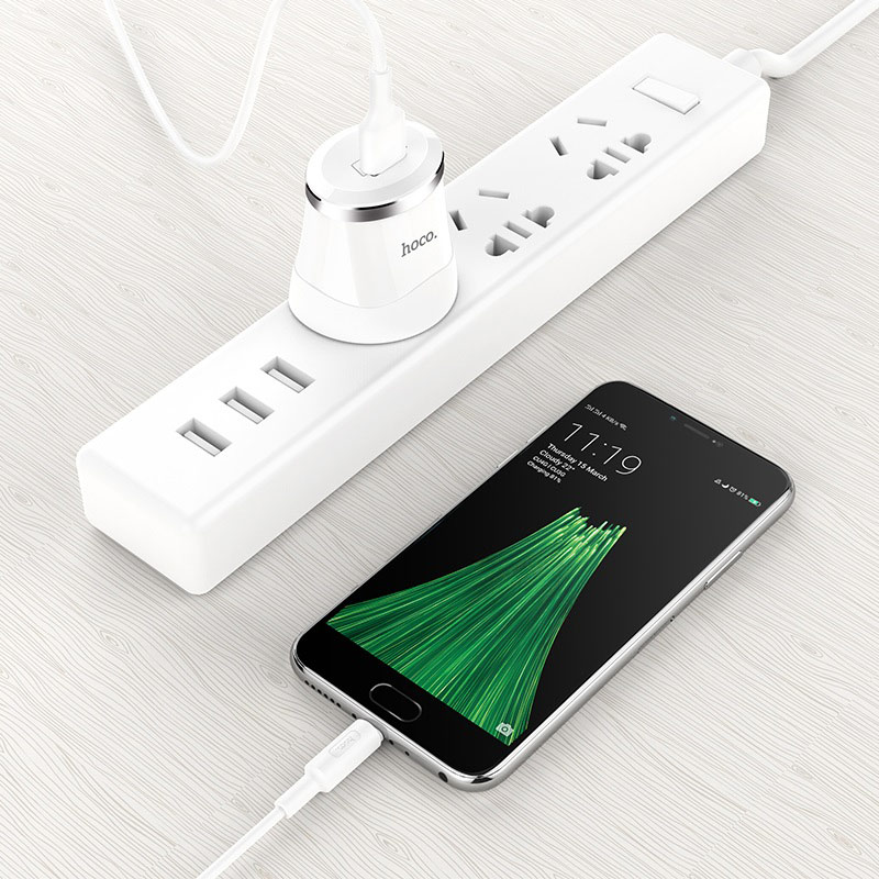 hoco c37b dignity single port charger set micro usb uk phone