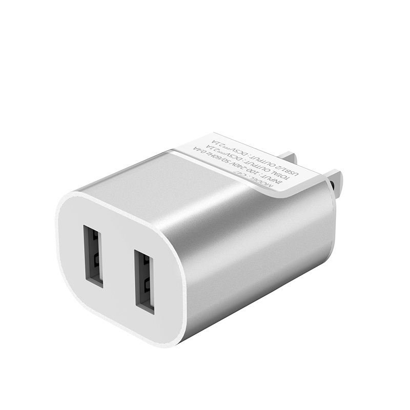 hoco c47 metal dual port charger us plug usb