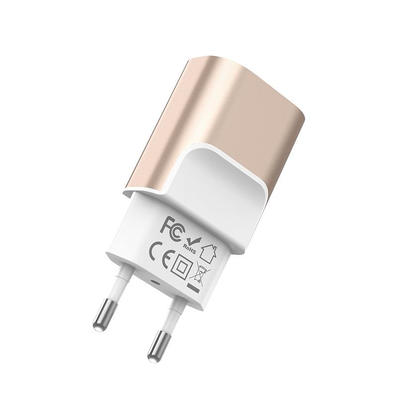 hoco c47a metal dual port charger eu plug certification