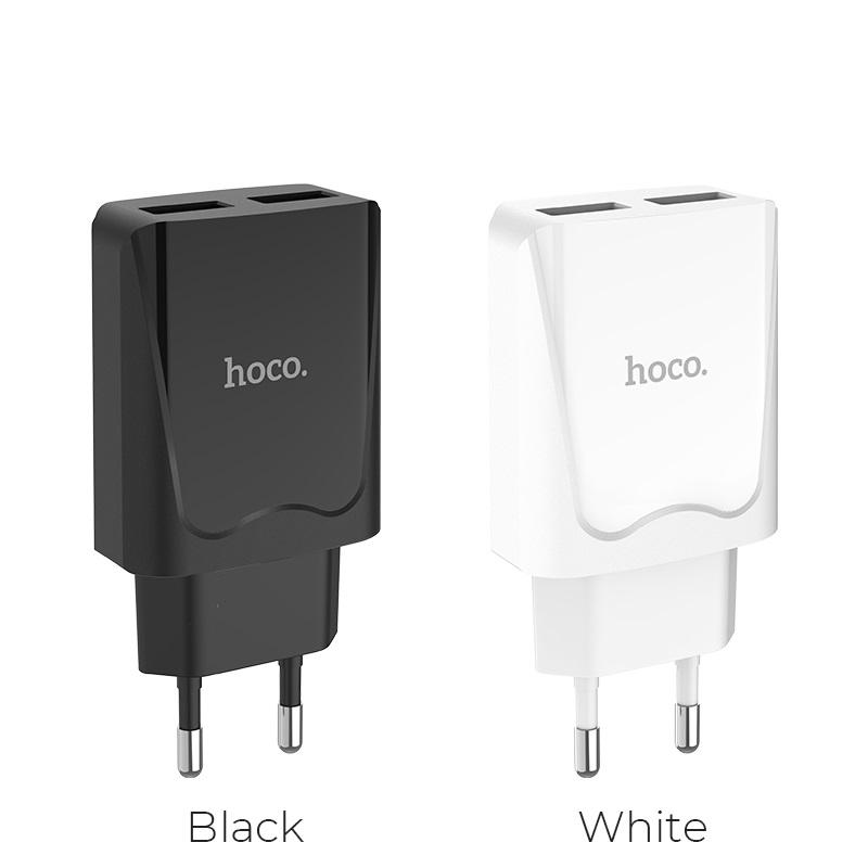 hoco c52a authority power dual port charger eu port colors