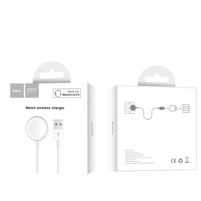 hoco cw16 iwatch wireless charger package