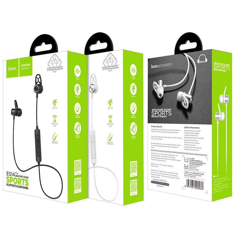 hoco es14 plus breathing sound sports wireless headset package