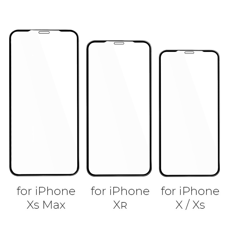 hoco flash attach tempered glass g1 for iphone x xs xr xs max sizes