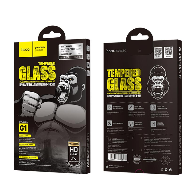 hoco g1 tempered glass package cn