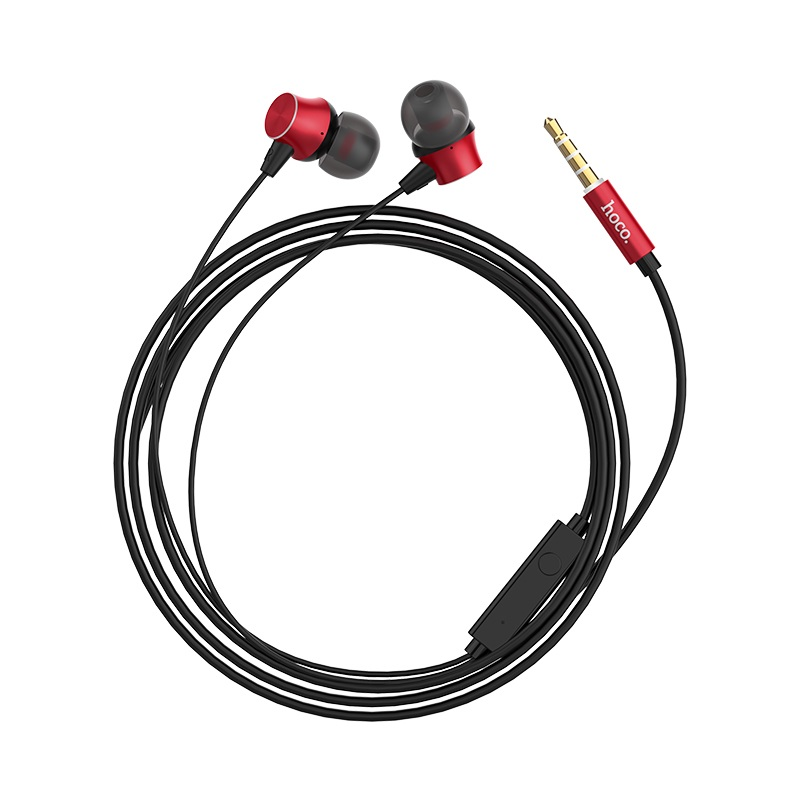 hoco m51 proper sound universal earphones with mic cable