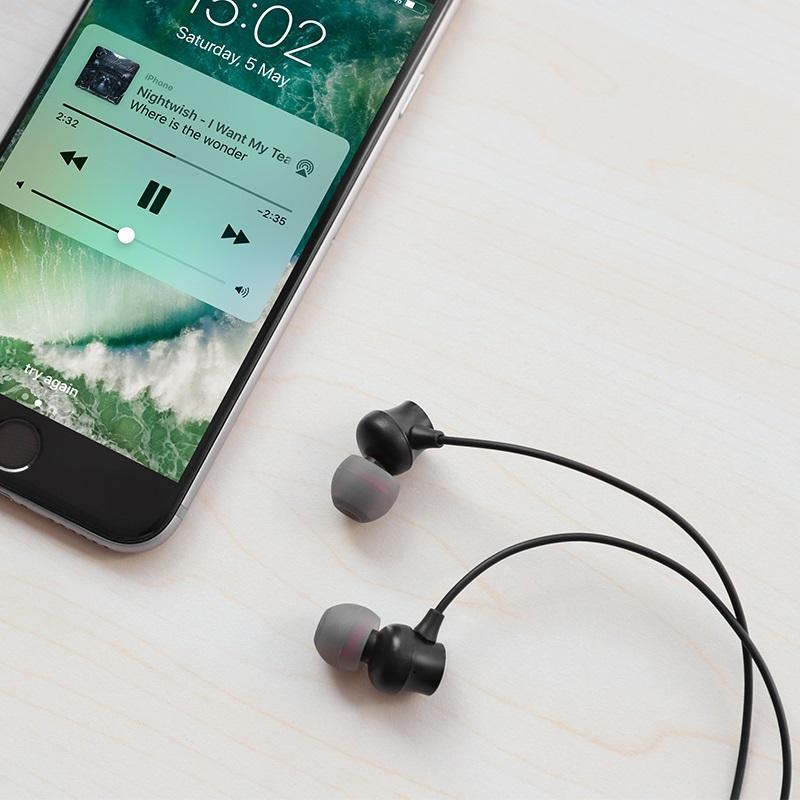 hoco m51 proper sound universal earphones with mic overview