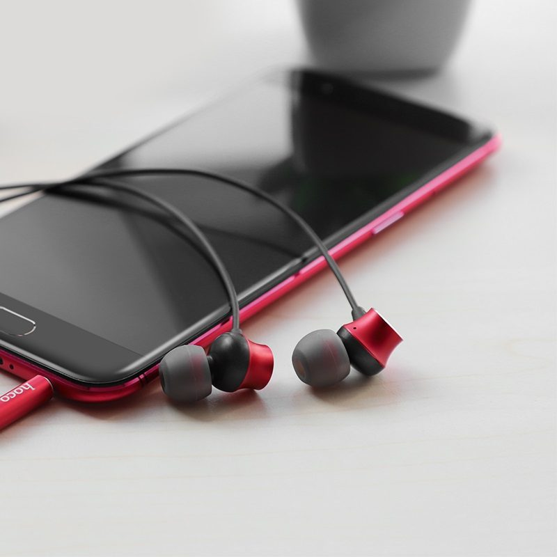 hoco m51 proper sound universal earphones with mic smartphone