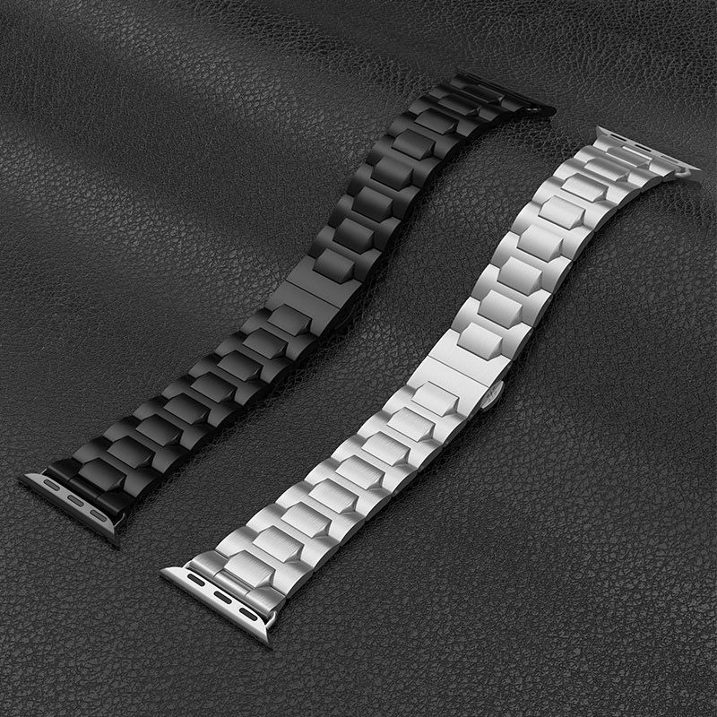 hoco wb03 apple watch series 4 3 2 1 grand steel strap 44 40 42 38mm black silver