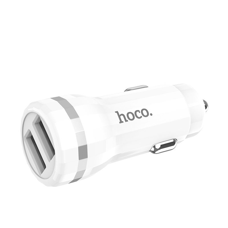 hoco z27 staunch dual port in car charger shell
