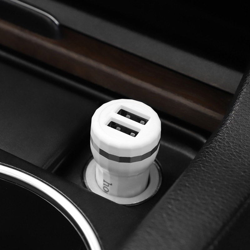 hoco z27 staunch dual port in car charger vehicle
