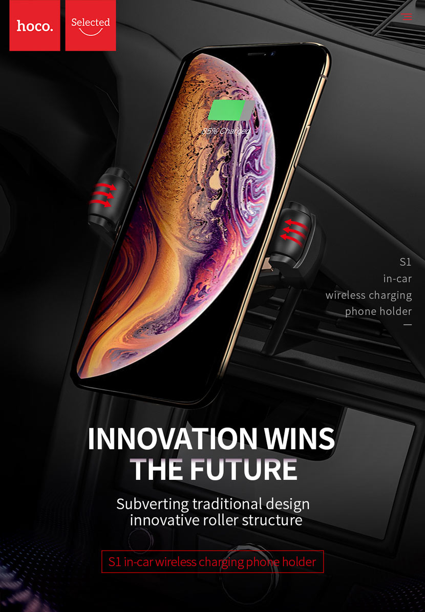 s1 in car wireless charger phone holder 01