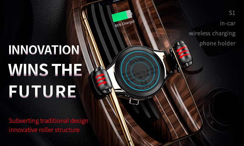 s1 in car wireless charger phone holder banner en