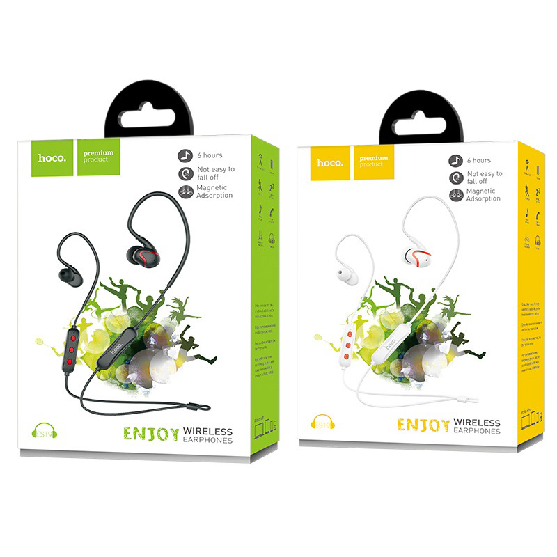 es19 joy sound sportive wireless earphones packages