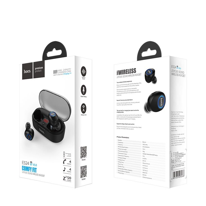 es24 Joyous sound true wireless earphones packages