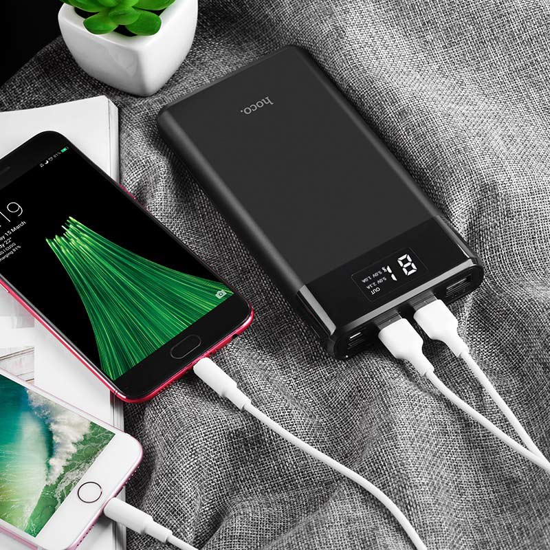 hoco b35e entourage mobile power bank 30000mah charging