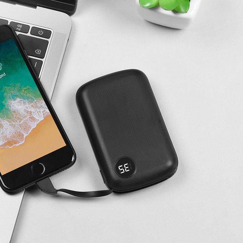hoco b38 extreme mobile power bank 10000 mah charging black