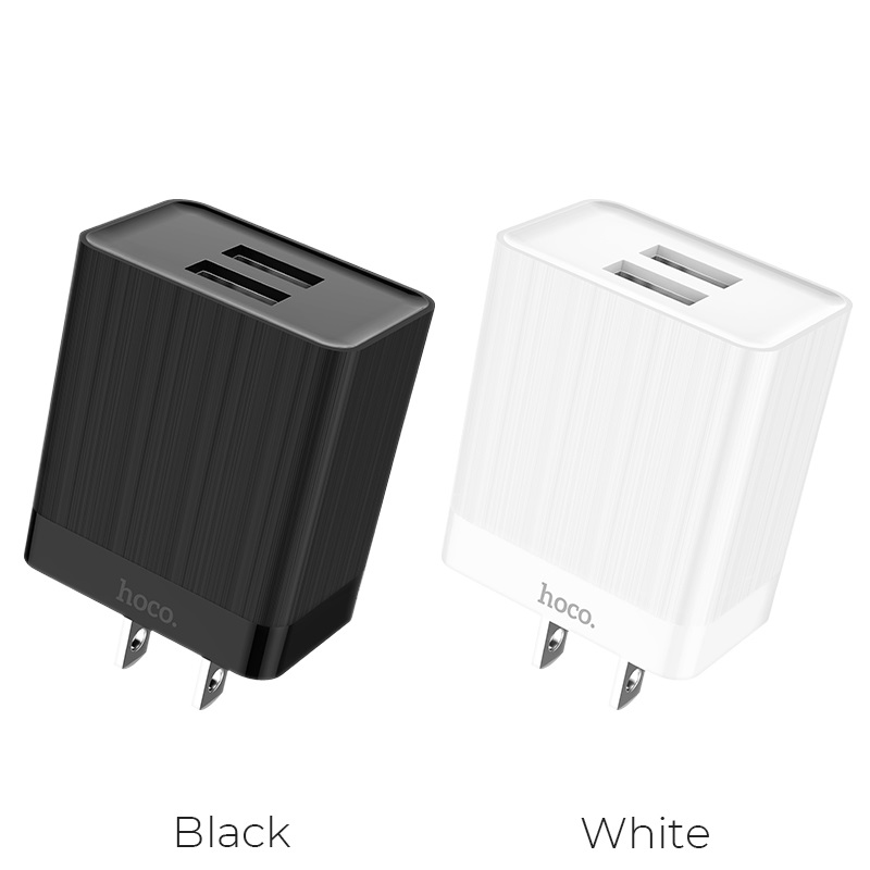 hoco c51 wall charger dual usb us colors