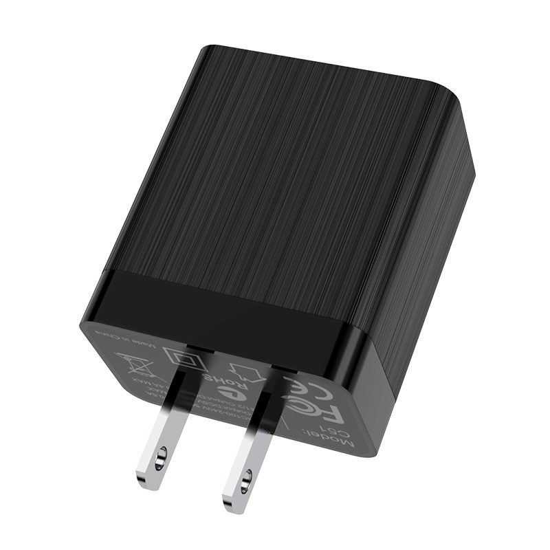 hoco c51 wall charger dual usb us shell