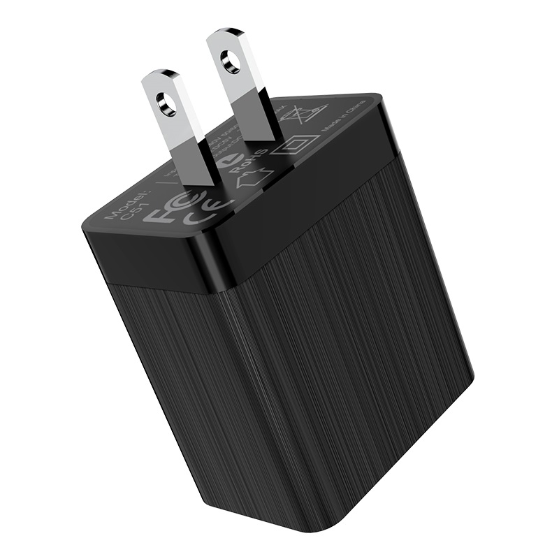 hoco c51 wall charger dual usb us usa