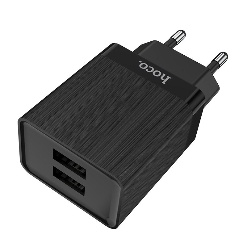 hoco c51a prestige power wall charger dual usb port eu