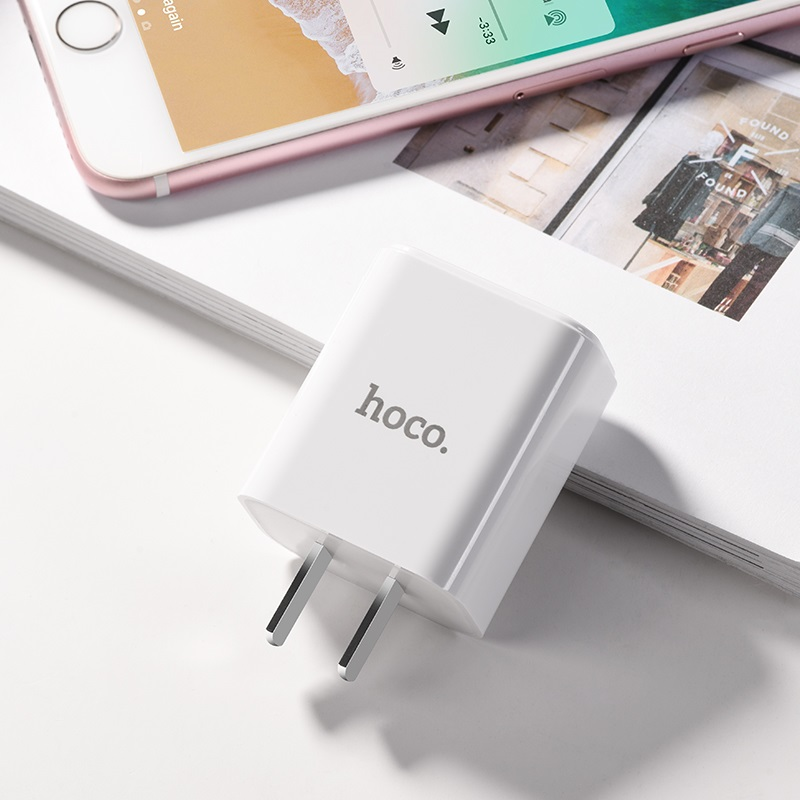 hoco c61 victoria single port charger 3c phone
