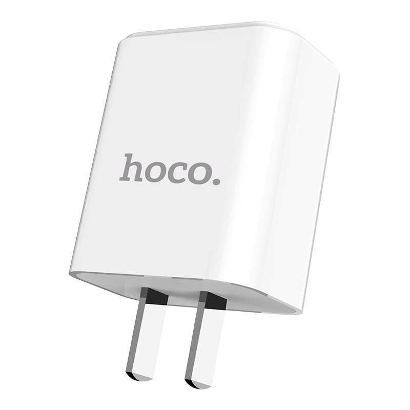 hoco c63 victoria dual port wall charger with digital display 3c travel