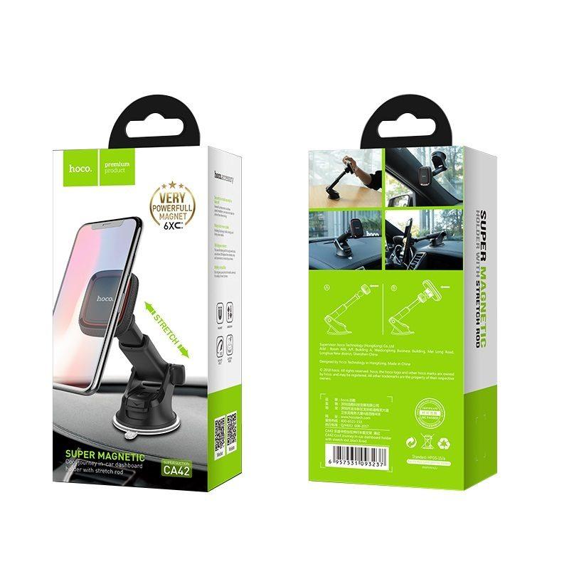 hoco ca42 cool journey автомобильный держатель телефона упаковка