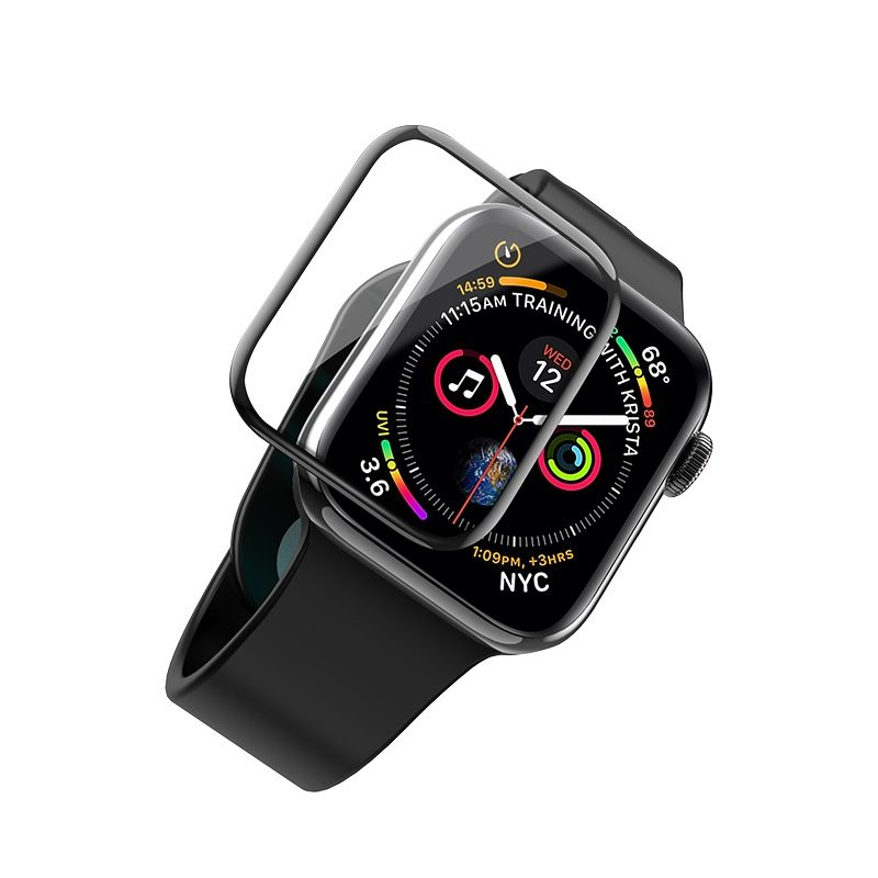 hoco curved hd silk screen tempered glass for apple watch series 4 fit