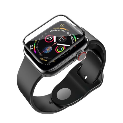 hoco curved hd silk screen tempered glass for apple watch series 4 invisible