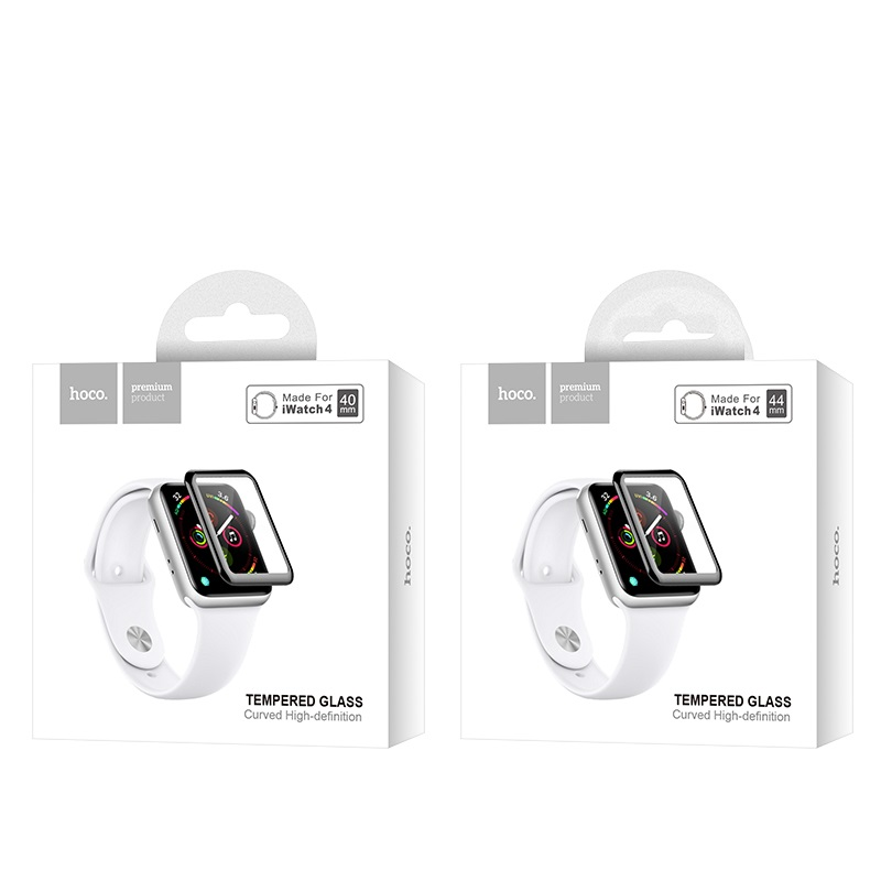 hoco curved hd silk screen tempered glass for apple watch series 4 packages