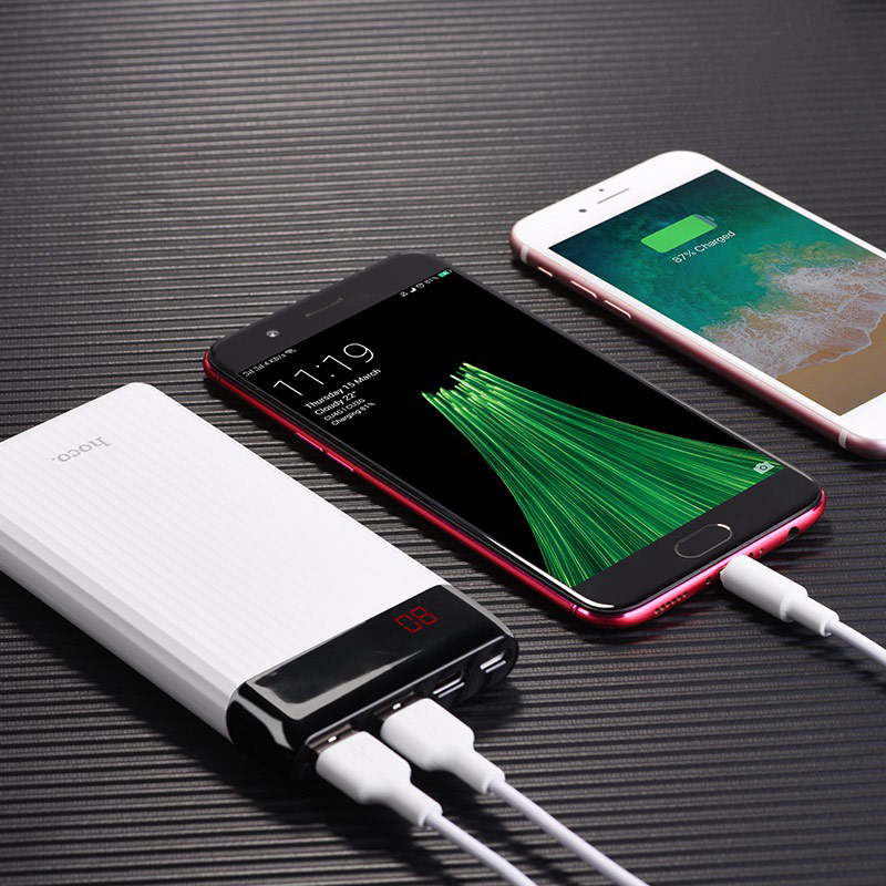 hoco j28 mobile power bank 10000 mah charging
