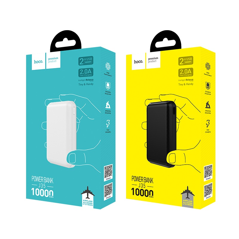 hoco j35 sunshine mobile power bank 10000mah packages